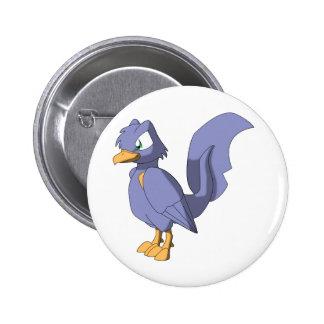 Koi Reptilian Bird - Pastel Blueberry 6 Cm Round Badge
