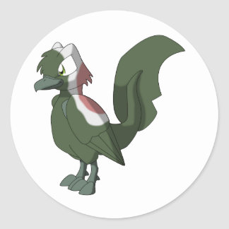 Koi Reptilian Bird - Salmon Sushi Round Sticker