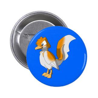 Koi Reptilian Bird - Straight Hi-Kohaku 6 Cm Round Badge