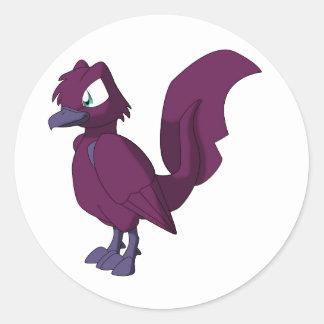 Koi Reptilian Bird - Yami-pinku Ogon Round Stickers