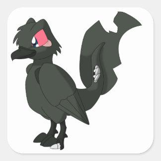 Koi Reptilian Bird - Zombie Karasugoi Square Sticker