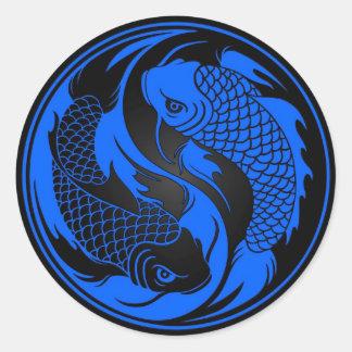 koi round sticker