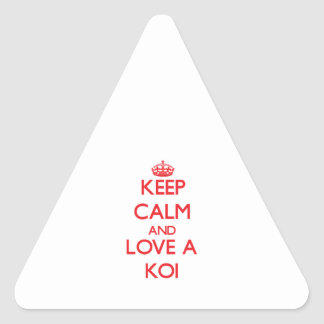 Koi Triangle Stickers