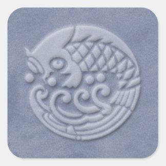 koi square sticker