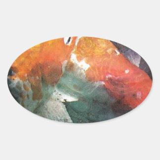 Koi Oval Sticker