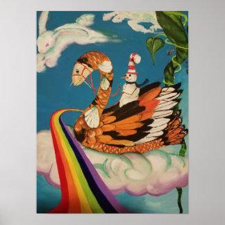 koi swan poster