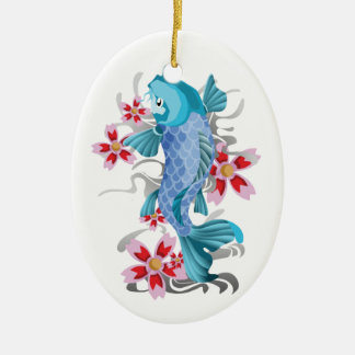 Koi Tattoo Christmas Ornament