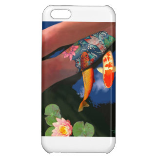 Koi Tattoo Lily Pond Phone Case iPhone 5C Cover