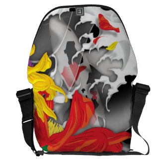 Koi Tattoo: Traditional Japanese Design Commuter Bags