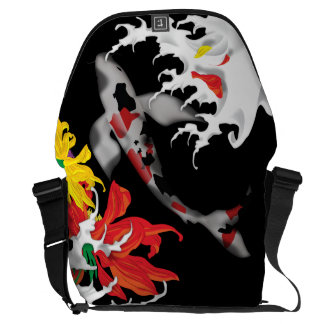 Koi Tattoo: Traditional Japanese Design Courier Bag