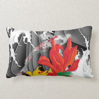 Koi Tattoo: Traditional Japanese Design Lumbar Cushion