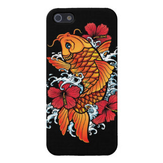 Koi with Hibiscus Cover For iPhone 5/5S