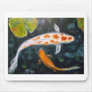 Koi with Lily Pads Mouse Mat