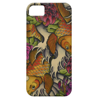 Kois and Chrysanthemums iPhone 5 Cover