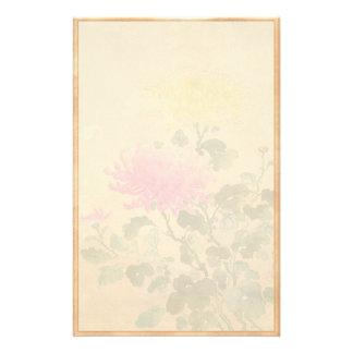 Koitsu Tsuchiya Chrysanthemum japanese flowers art Customized Stationery