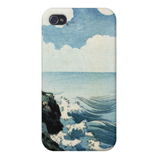 Kojima Island, Big Wave. Japanese Woodblock Print iPhone 4 Case