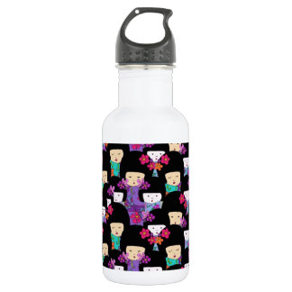 kokeshi dolls 532 ml water bottle