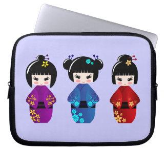 Kokeshi dolls laptop sleeve