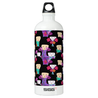 kokeshi dolls water bottle
