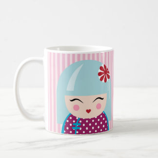 Kokeshi girl mug