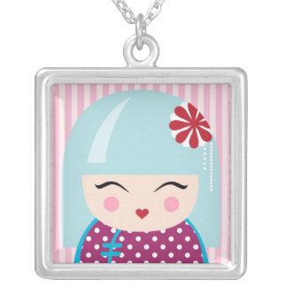 Kokeshi girl necklace