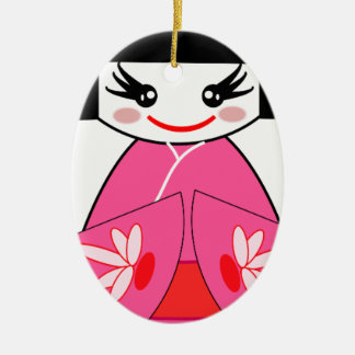 Kokeshi Japan Christmas Ornament