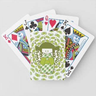 Kokeshi, Japanese dolls, apple green, Bicycle Playing Cards
