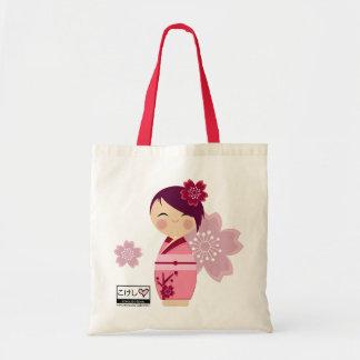 Kokeshi Sakura Tote Budget Tote Bag