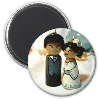 Kokeshi Wedding II Magnet