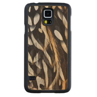 Koklass Pheasant Feather Abstract Carved Maple Galaxy S5 Case