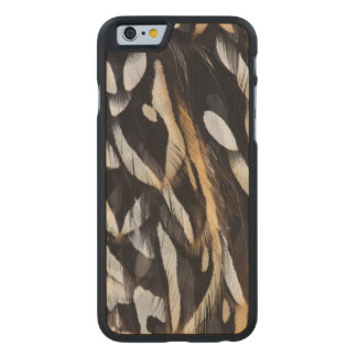 Koklass Pheasant Feather Abstract Carved Maple iPhone 6 Case