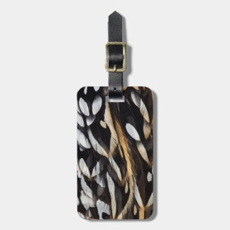 Koklass Pheasant Feather Abstract Luggage Tag