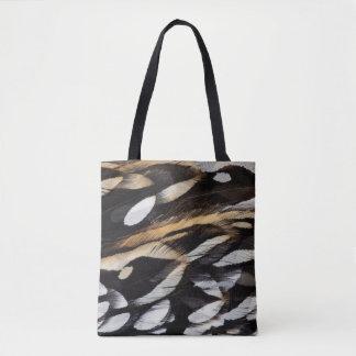 Koklass Pheasant Feather Abstract Tote Bag