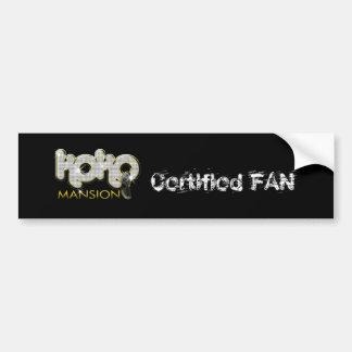 Koko Logo2b, Certified FAN Bumper Sticker