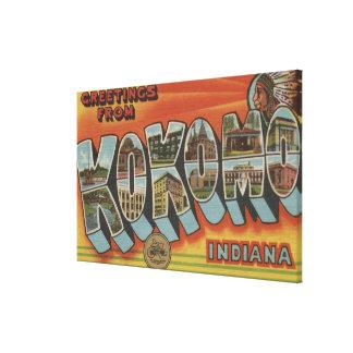 Kokomo, Indiana - Large Letter Scenes Canvas Print