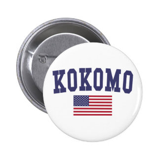 Kokomo US Flag 6 Cm Round Badge