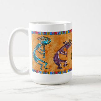 Kokopelli 3D Anasazi Native American Motif Coffee Mug