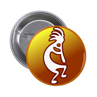 Kokopelli 6 Cm Round Badge