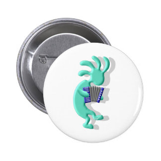 Kokopelli Accordion 6 Cm Round Badge
