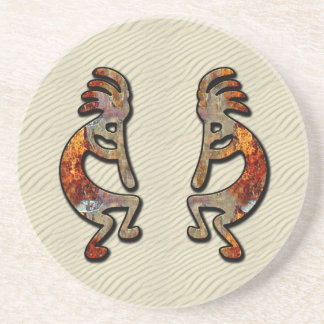 Kokopelli, Ancient  Flute Player of the Desert Drink Coasters