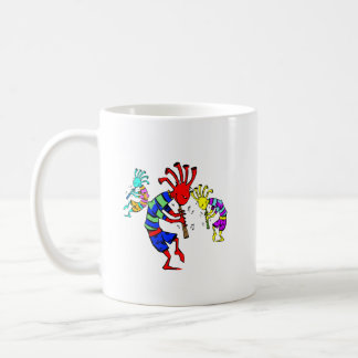 Kokopelli Art Music Trio Coffee Mugs