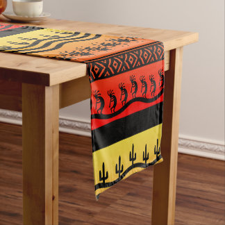 Kokopelli Aztec Tribal Suns Desert Southwestern Short Table Runner