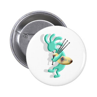 Kokopelli Bagpipes 6 Cm Round Badge