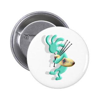 Kokopelli Bagpipes 6 Cm Round Badge