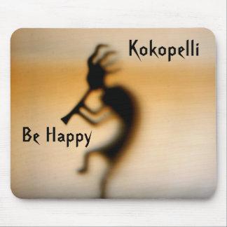 Kokopelli Be Happy Inspirational Mousepad
