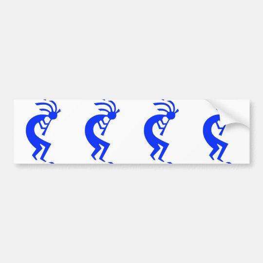 Kokopelli Blue Bumper Sticker