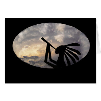 Kokopelli Brings Rain Greeting Card