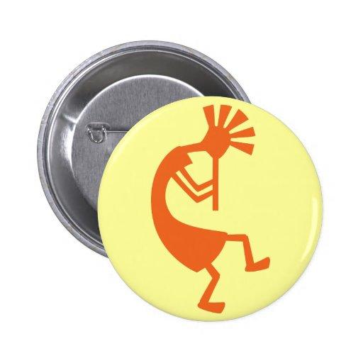 Kokopelli Button Pins