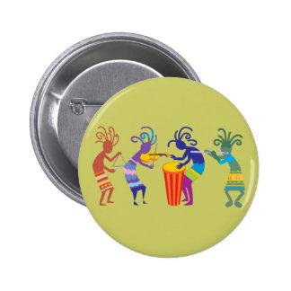 Kokopelli Buttons Pins