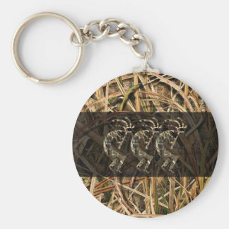 Kokopelli camo long dark key ring